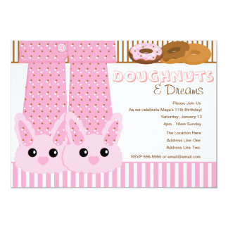 Doughnuts & Dreams Pajama Party Sleepover Card
