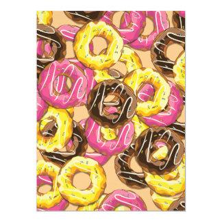 "doughnuts 6.5"" x 8.75"" invitation card"