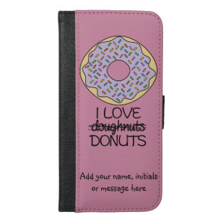 Doughnuts vs. Donuts iPhone 6/6s Plus Wallet Case