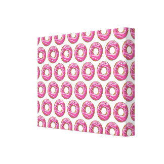 Doughnuts with pink icing canvas print