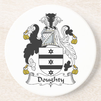 Doughty Family Crest Drink Coaster