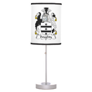 Doughty Family Crest Table Lamp
