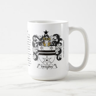 Doughty, the Origin, the Meaning and the Crest Coffee Mug