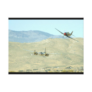 Douglas A26 And Seafury, Flying_WWII Planes Canvas Print