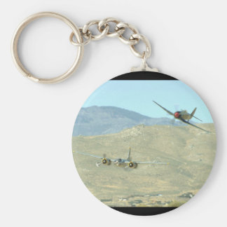 Douglas A26 And Seafury, Flying_WWII Planes Keychain