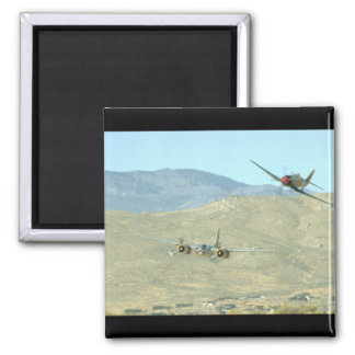Douglas A26 And Seafury, Flying_WWII Planes Magnet