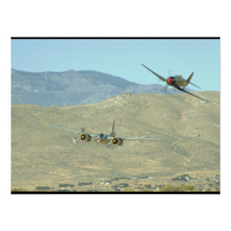 Douglas A26 And Seafury, Flying_WWII Planes Poster