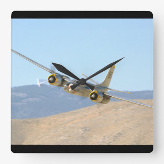 Douglas A26 Invader, Aerial View_WWII Planes Square Wall Clock
