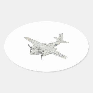 Douglas A-26 Invader Oval Sticker