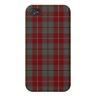 Douglas Ancient Red Tartan Plaid Pattern Covers For iPhone 4