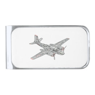 Douglas B-26 Invader Silver Finish Money Clip