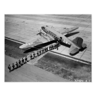 Douglas C-47 and Airborne Trainees Poster