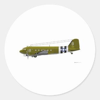 Douglas C-47 Skytrain Classic Round Sticker