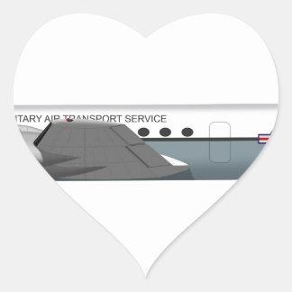 Douglas C-54 Skymaster 72500 Heart Sticker