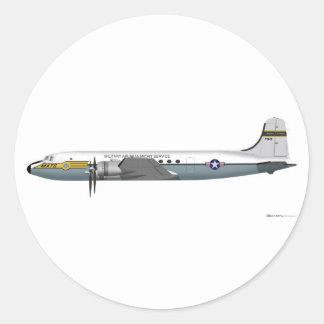 Douglas C-54 Skymaster Round Stickers
