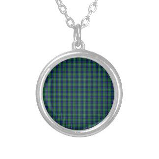 Douglas Clan Family Tartan Silver Plated Necklace