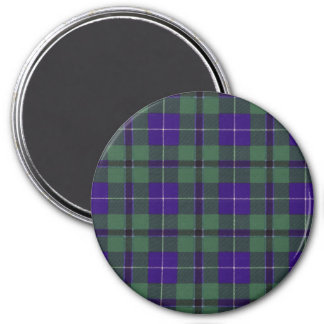 Douglas clan Plaid Scottish tartan 3 Inch Round Magnet