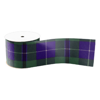 Douglas clan Plaid Scottish tartan Grosgrain Ribbon