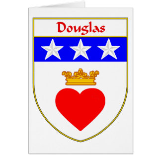 Douglas Coat of Arms/Family Crest Card