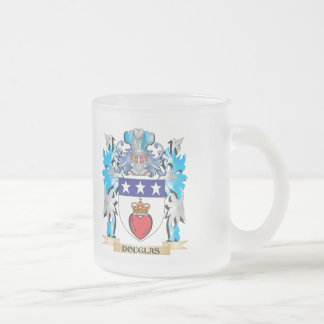 Douglas Coat of Arms - Family Crest 10 Oz Frosted Glass Coffee Mug