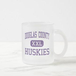 Douglas County - Huskies - High - Castle Rock 10 Oz Frosted Glass Coffee Mug