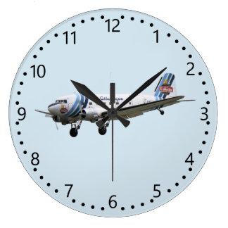 Douglas Dakota DC3 G-AMSV Large Clock