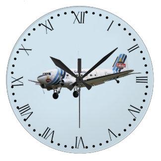 Douglas Dakota DC3 G-AMSV - Roman Dial Large Clock