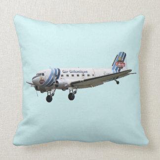 Douglas Dakota DC3 G-AMSV Throw Pillow