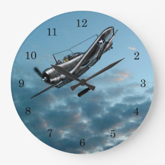 Douglas Dauntless Dive Bomber Large Clock