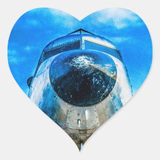 Douglas DC-3 Aircraft Heart Sticker