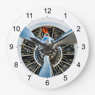 Douglas DC-3 Aircraft. Propeller Large Clock