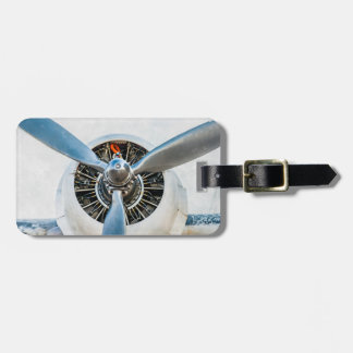 Douglas DC-3 Aircraft. Propeller Luggage Tag