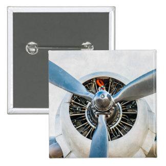 Douglas DC-3 Aircraft. Propeller Pinback Button