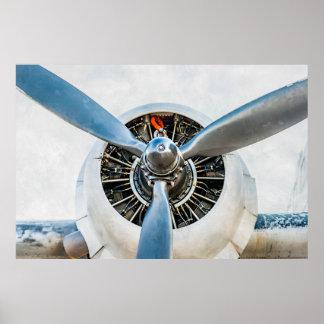 Douglas DC-3 Aircraft. Propeller Poster