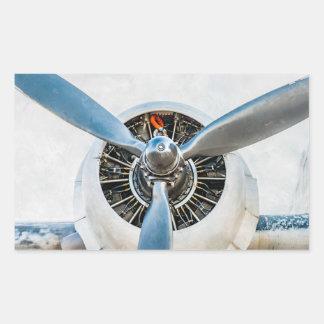 Douglas DC-3 Aircraft. Propeller Rectangular Sticker