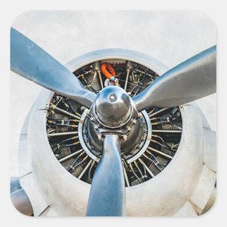 Douglas DC-3 Aircraft. Propeller Square Sticker