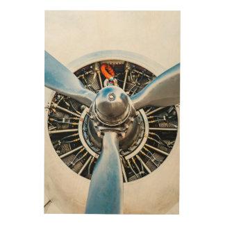 Douglas DC-3 Aircraft. Propeller Wood Print