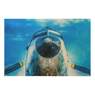 Douglas DC-3 Aircraft Wood Print