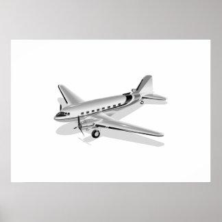 Douglas DC-3 Airplane Poster