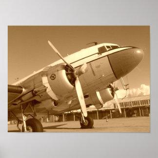 Douglas DC-3 / C-47 Closeup Poster