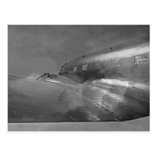 Douglas DC-3 Dakota aircraft flying home Postcard