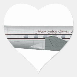 Douglas DC-3 Johnson Flying Service Heart Sticker