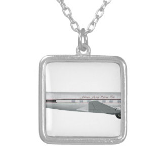Douglas DC-3 Johnson Flying Service Silver Plated Necklace
