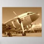 Douglas DC-3/primer del C-47 Póster