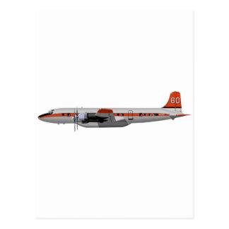 Douglas DC-7B Slurry Tanker 404404 Postcard