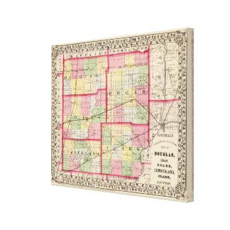 Douglas, Edgar, Coles, Cumberland, Clark counties Canvas Print