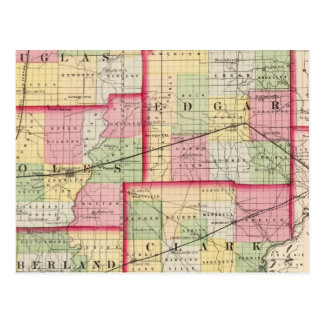 Douglas, Edgar, Coles, Cumberland, Clark counties Postcard