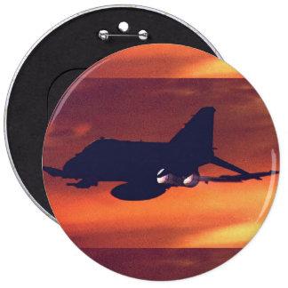 Douglas F-4 Phantom 6 Inch Round Button