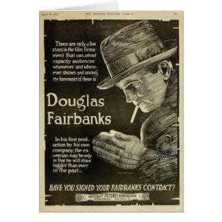Douglas Fairbanks 1917 exhibition print ad artwork Greeting Card