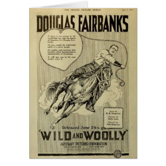 Douglas Fairbanks 1917 vintage exhibitor ad silent Greeting Card